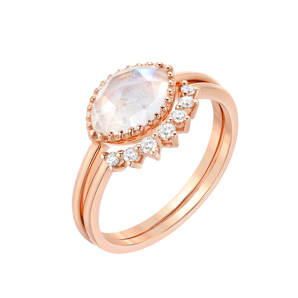 aura marquise ring set