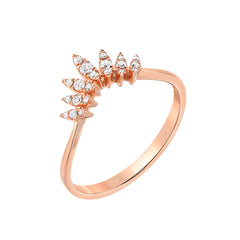 rose gold marquise arch ring