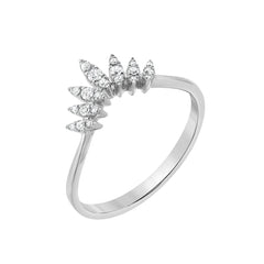 white gold marquise arch ring