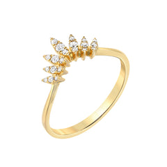 yellow gold marquise arch ring