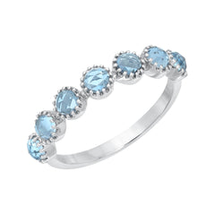 Bezel Set London Blue Topaz Halfway Band