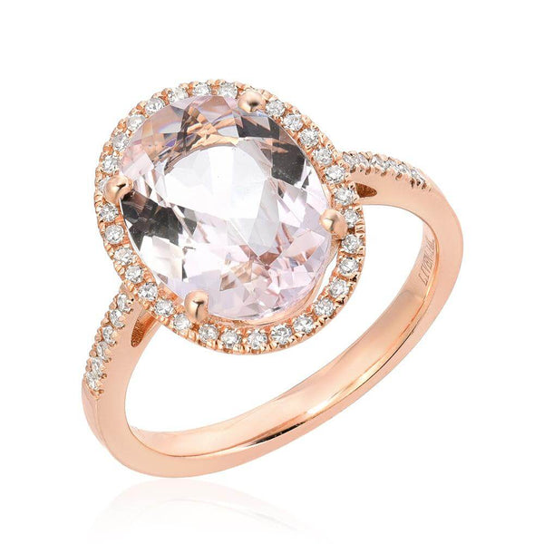 One of a Kind Morganite Ring in Rose Gold