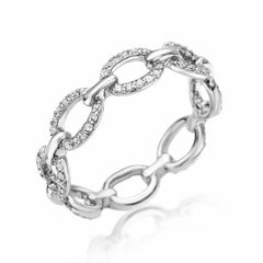 classic chain link eternity band in white gold