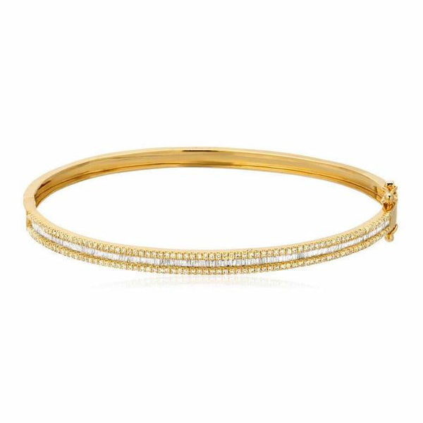 heirloom bangle in yellow gold