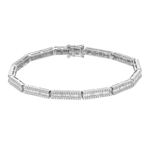 heirloom tennis bracelet with baguette diamonds