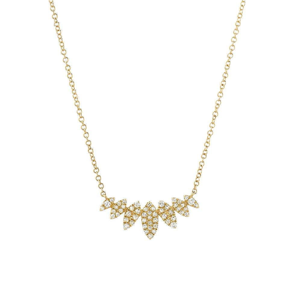 multi marquise necklace in yellow gold