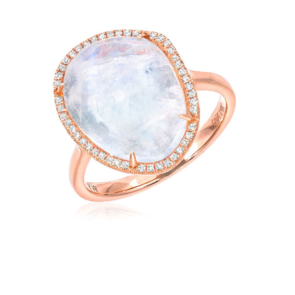 One of a Kind Rainbow Moonstone Ring