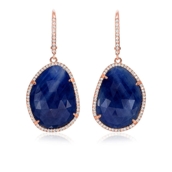 One of a Kind Sapphire Drop Earrings