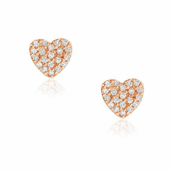 small heart pave earrings