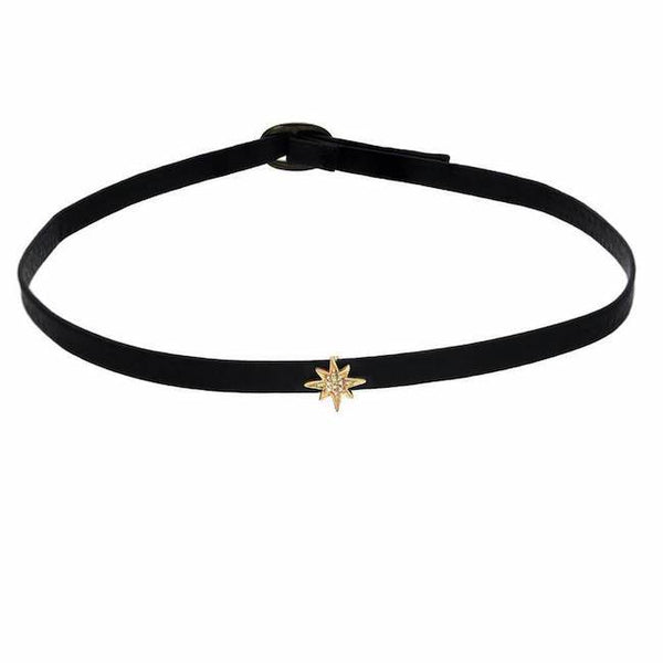 starburst choker in yellow gold