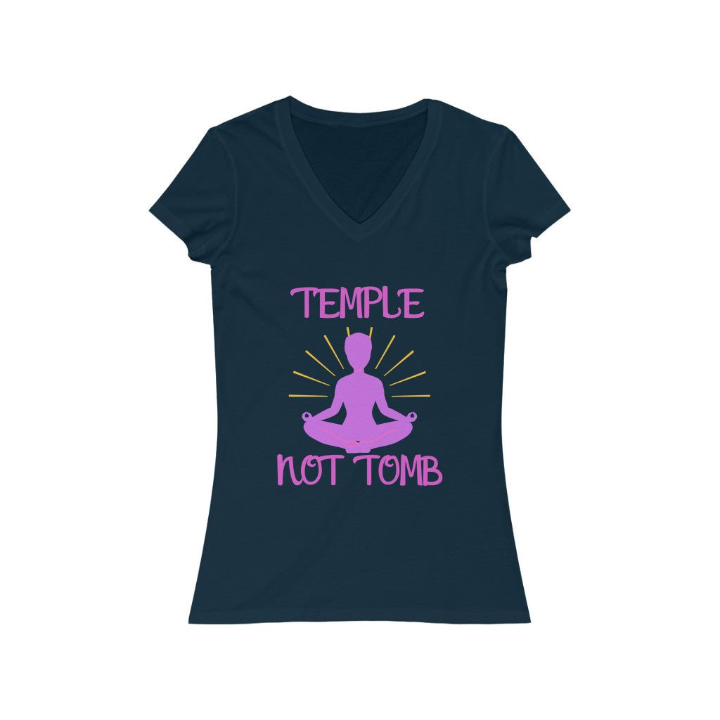 Temple not Tomb V-neck