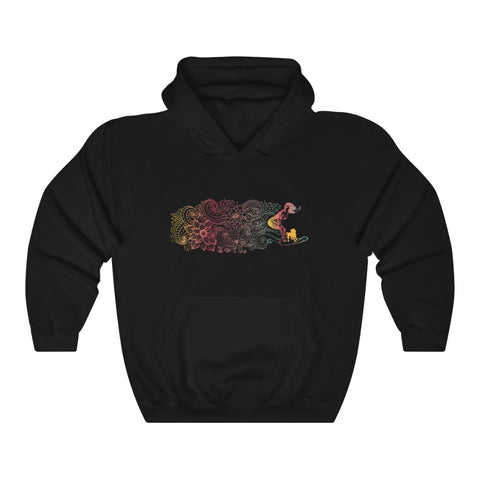 Flowers + Surf + Dog - Hooded Sweatshirt