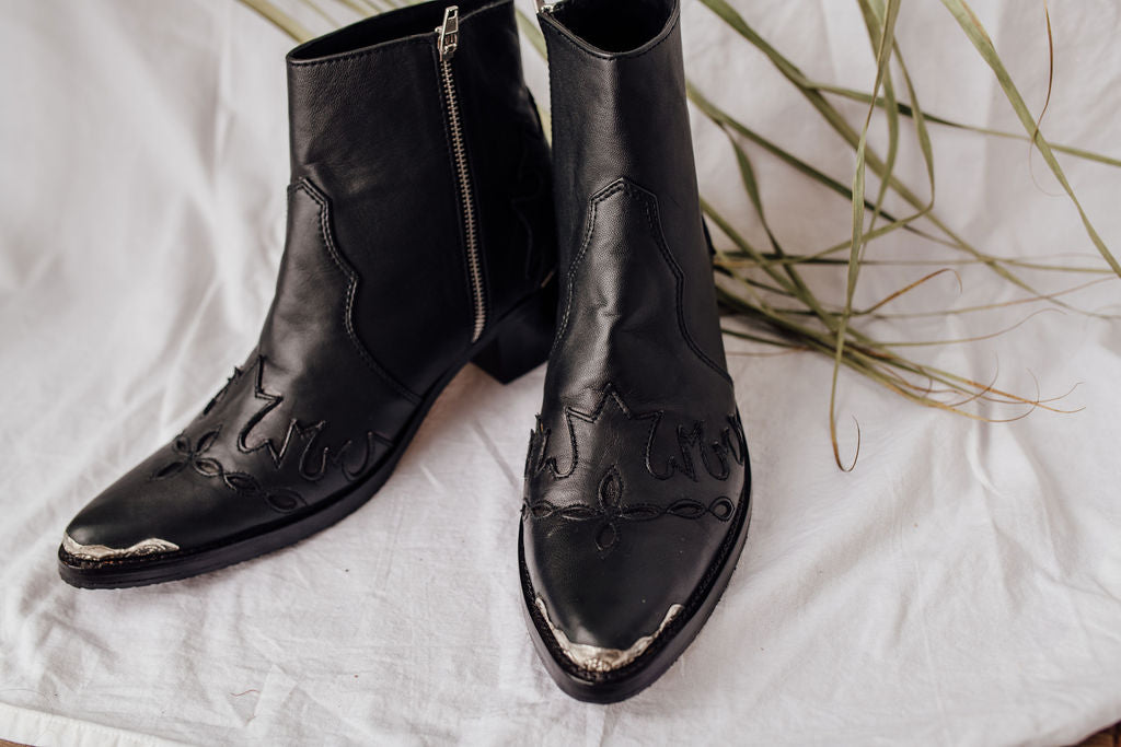 Pre-Order:  Black Leather boots