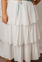 Load image into Gallery viewer, Everly skirt white broderie angalise