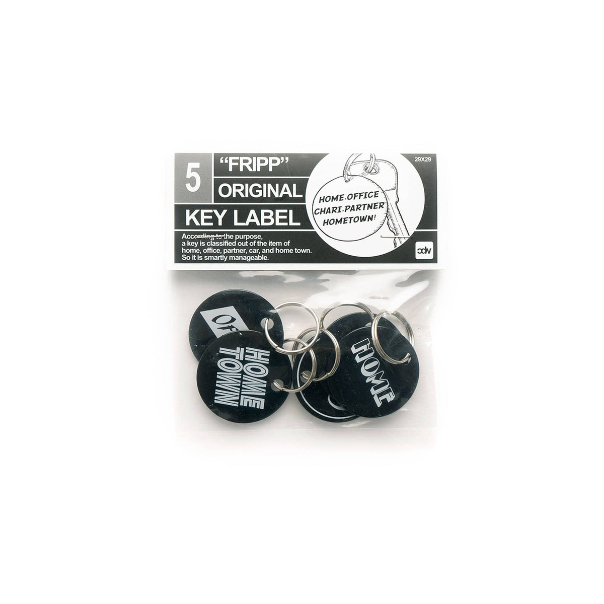 Fripp Original Key Label (Black)