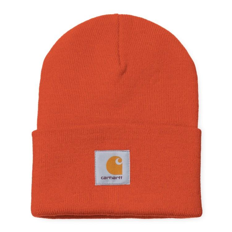 Carhartt WIP Kopfbedeckungen Orange Acrylic Watch Hat