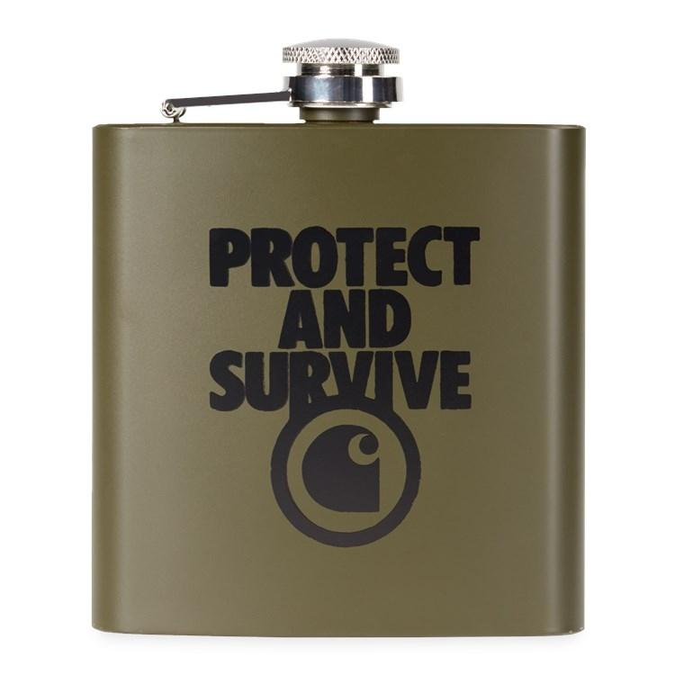 Protect Survive Whiskey Flask