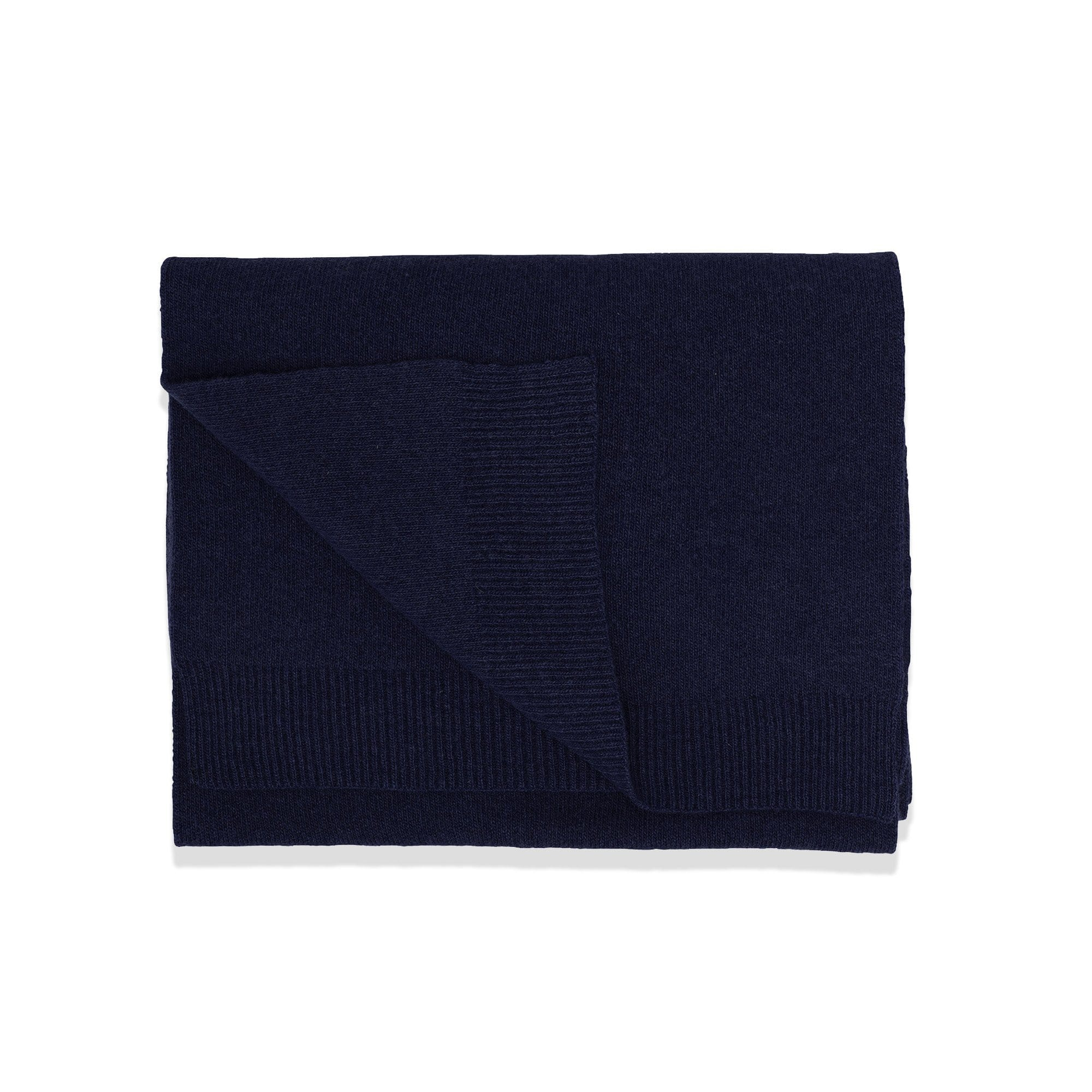 Colorful Standard Accessories Navy Merino Wool Scarf