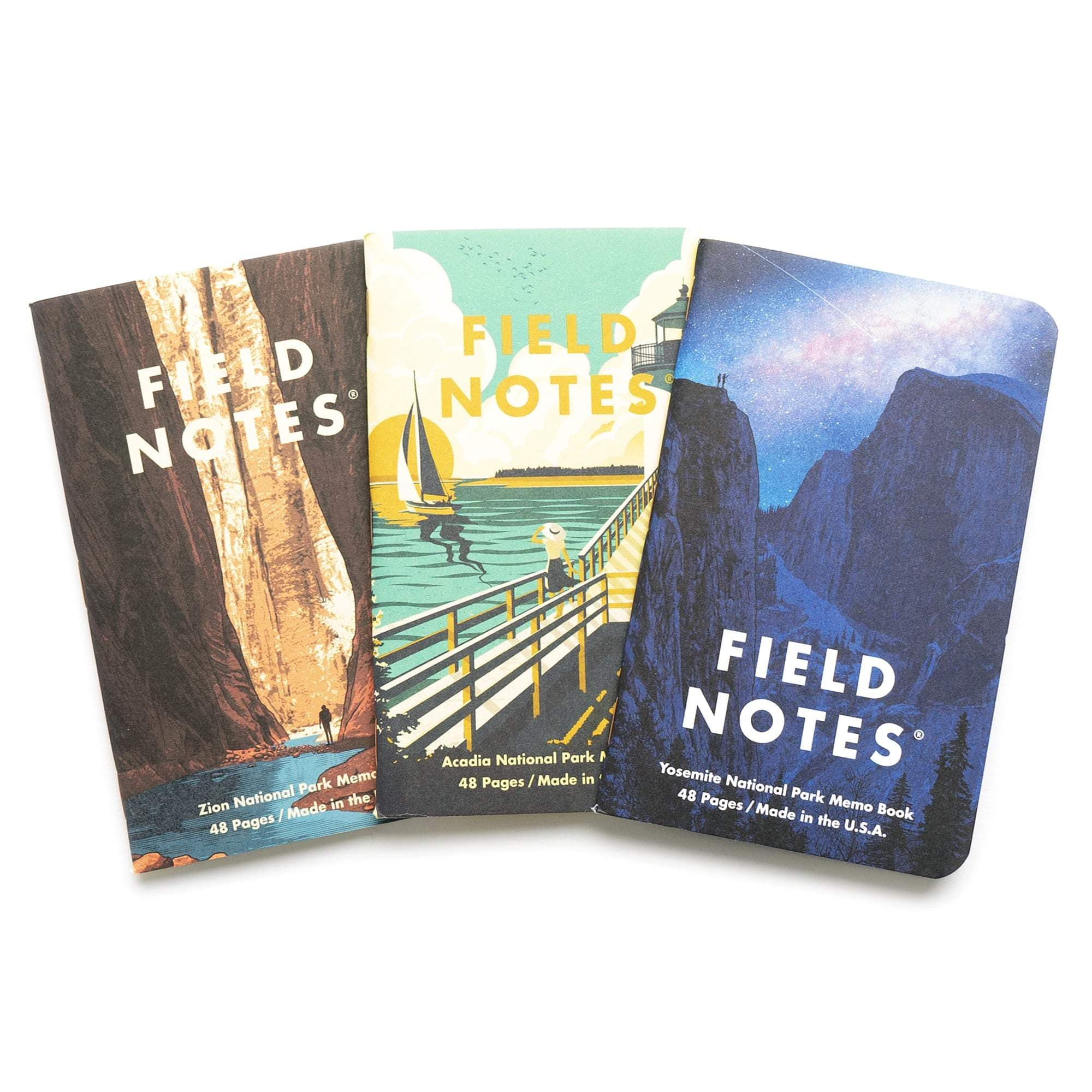 Field Notes Notizbücher Series A National Parks Series A (3er Pack)