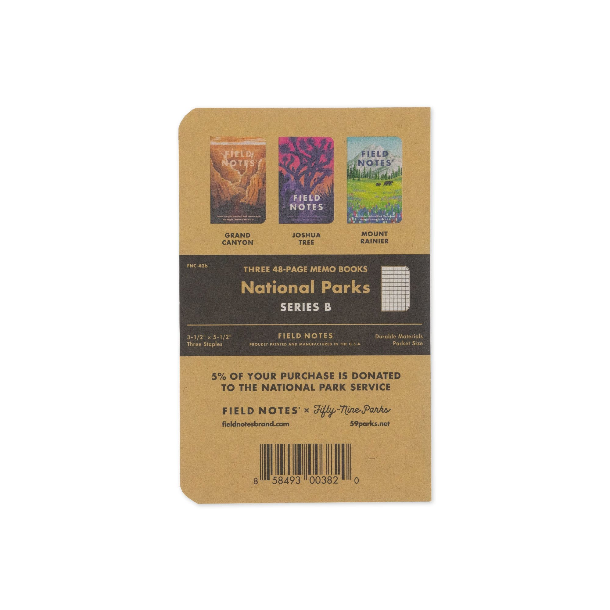 Field Notes Notizbücher Series B National Parks Series B (3er Pack)