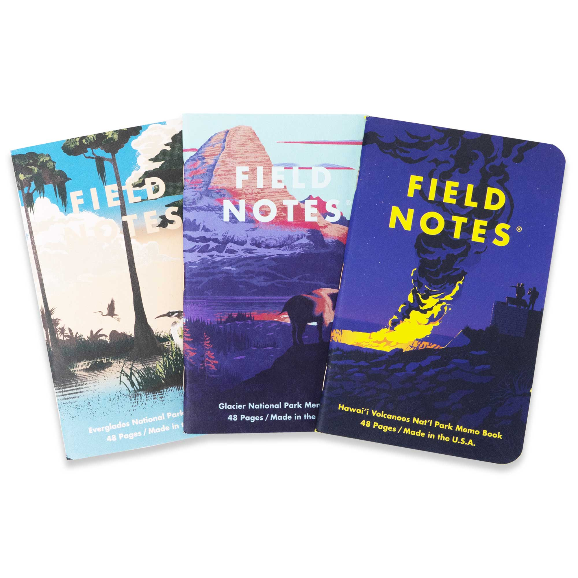 Field Notes Notizbücher Series F National Parks Series F (3er Pack)