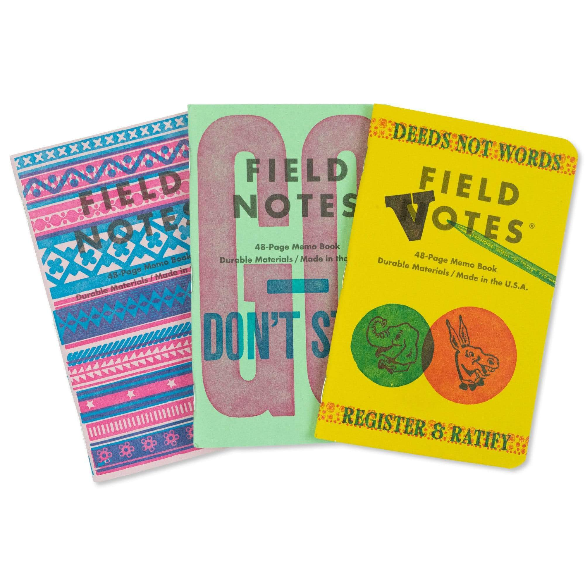 Field Notes Notizbücher 3-PACK B United States of Letterpress (3er Pack B)