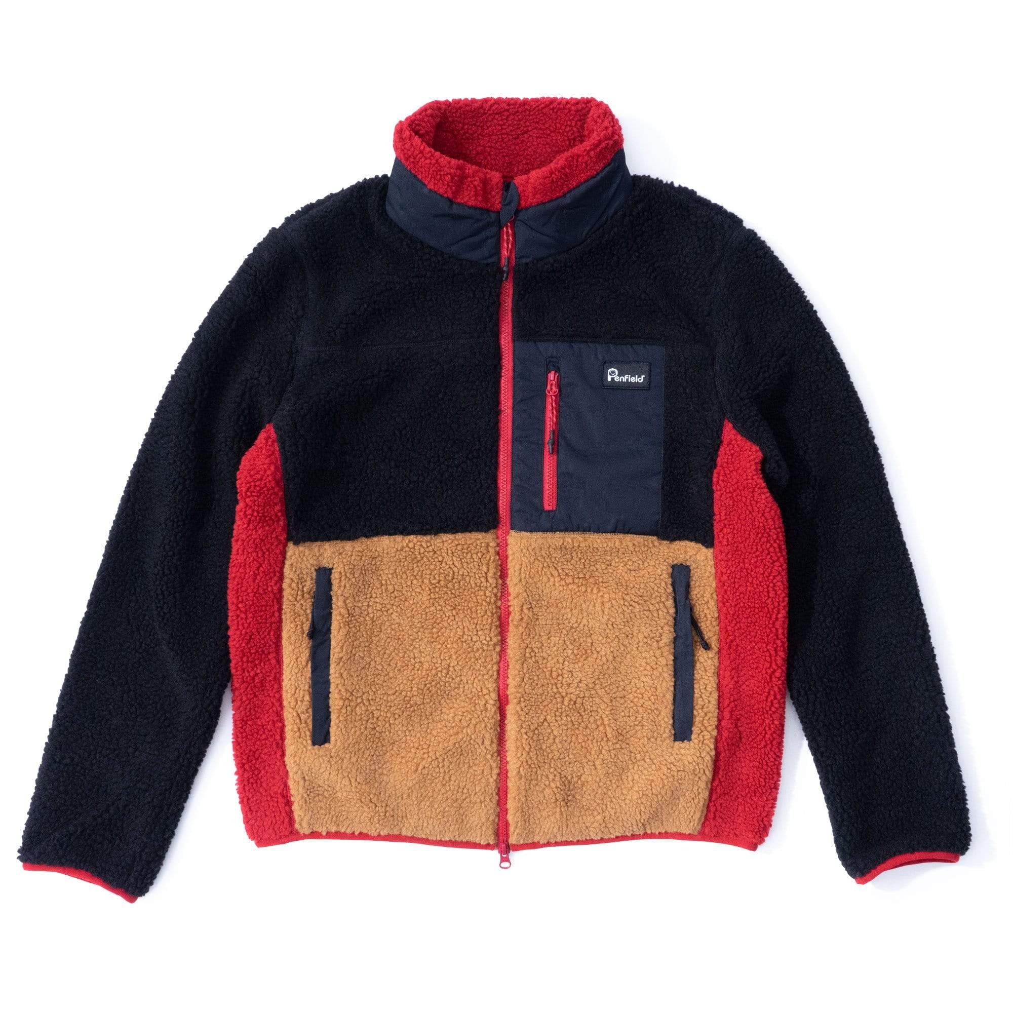 Penfield Jacken M MATTAWA Colourblock Fleece