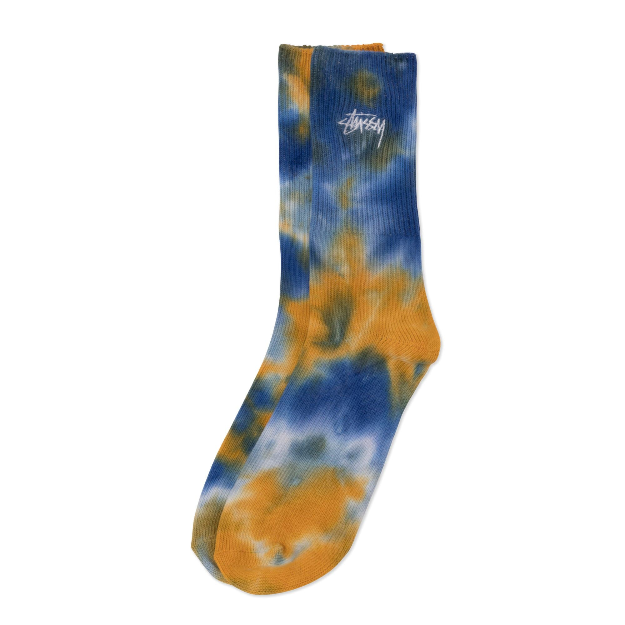 Stüssy Socken Orange Earth Dye Crew Socks