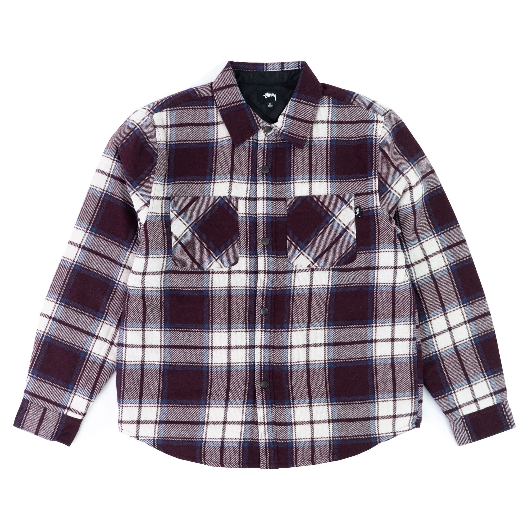 Stüssy Sweats & Hemden M Max Plaid Quilted Shirt
