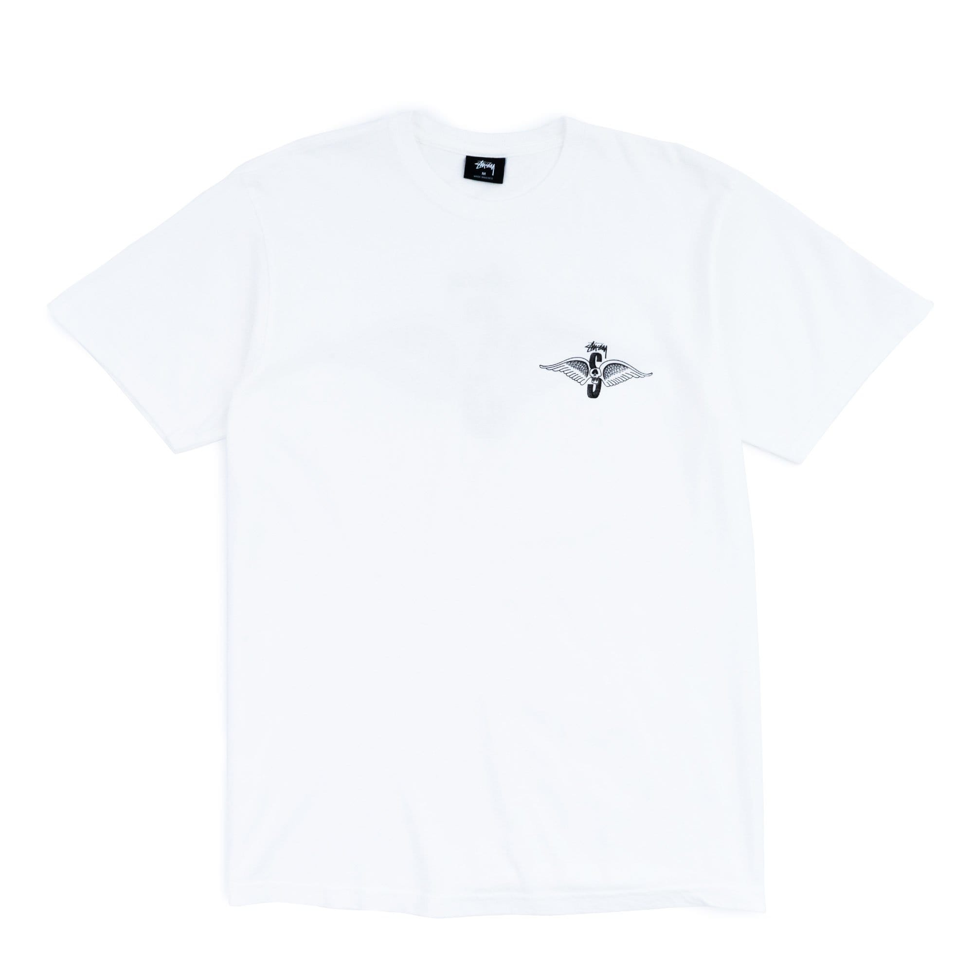 Stüssy T-Shirts M Skull Wings Pig. Dyed Tee