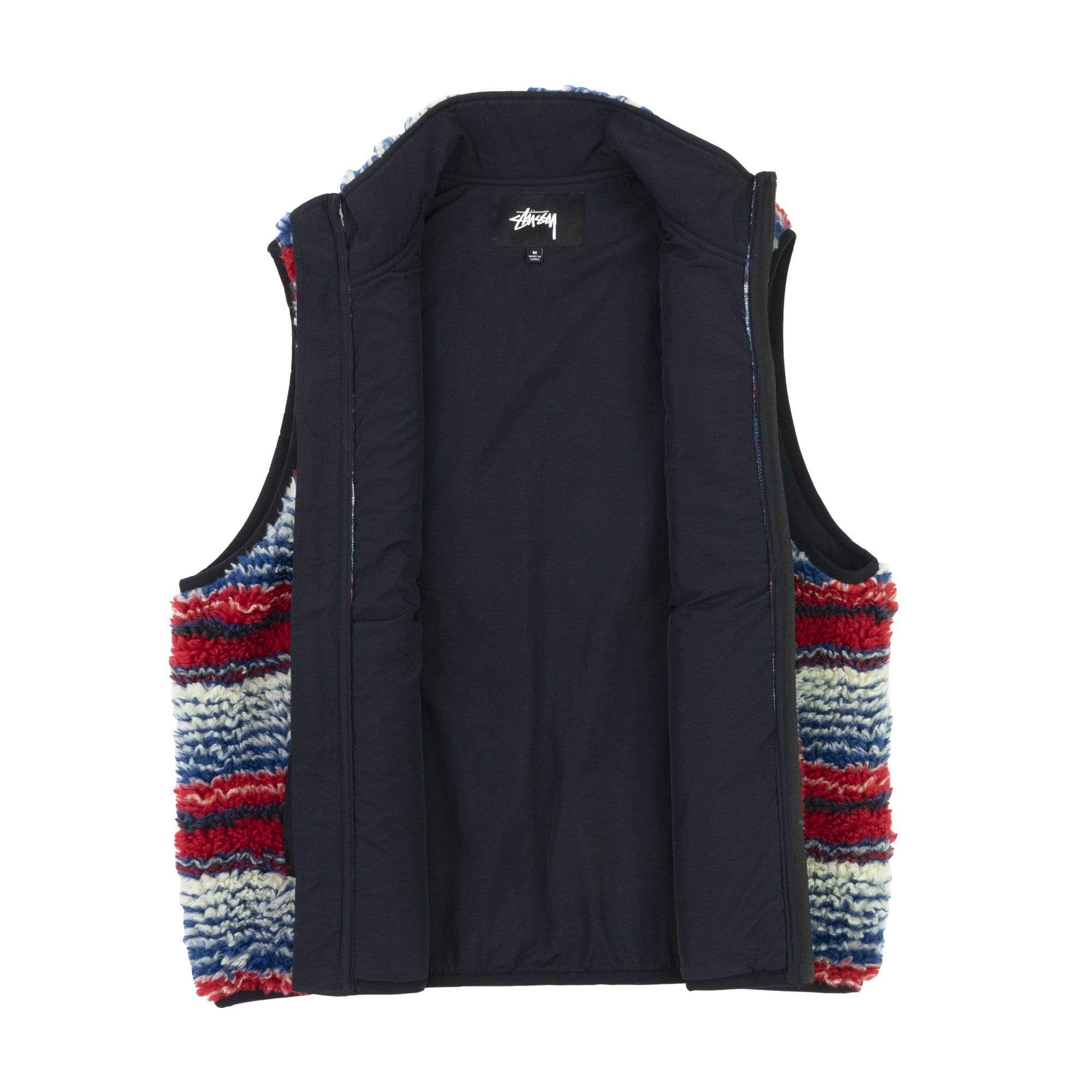 Stüssy Jacken Striped Sherpa Vest