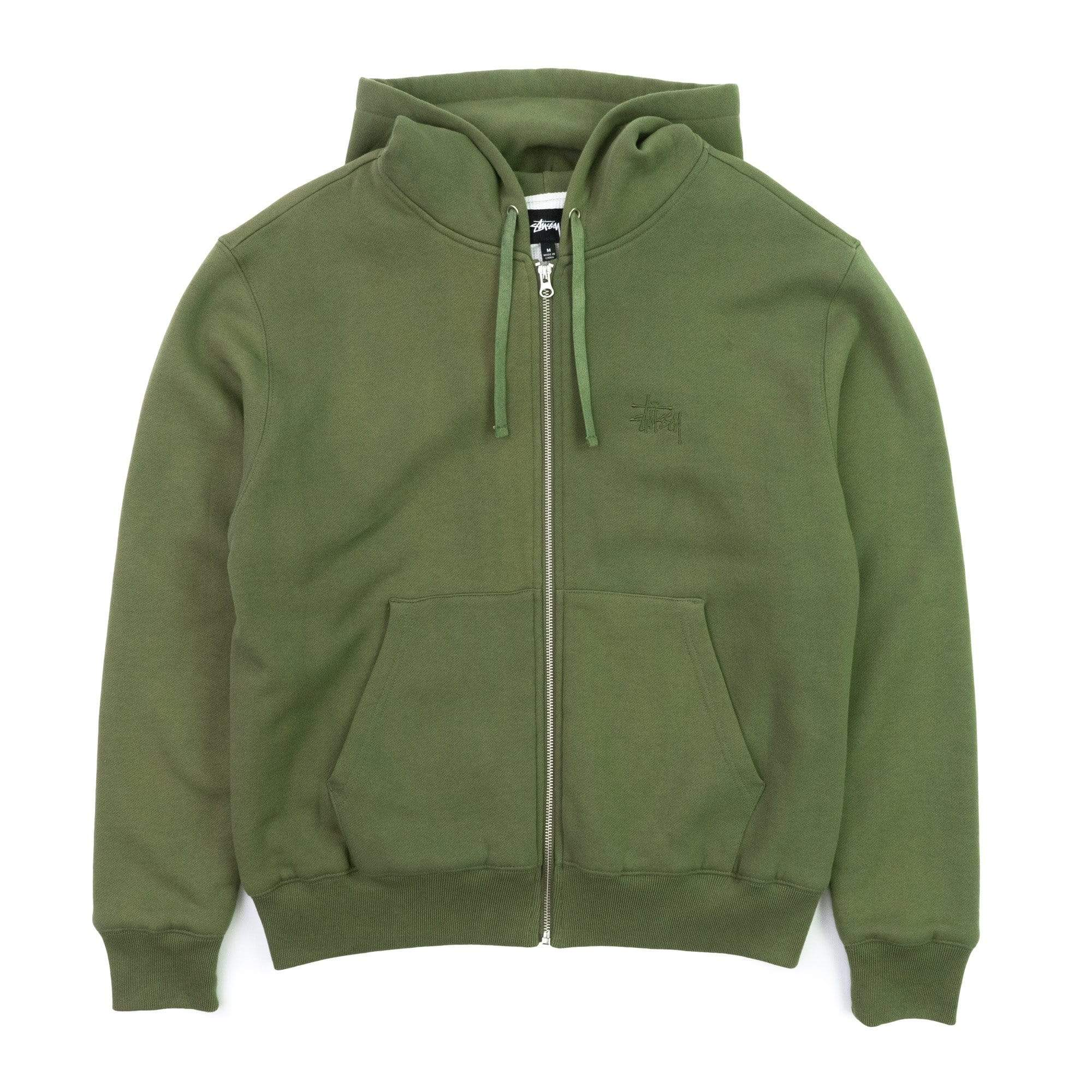 Stüssy Sweats & Hemden Gruen / M Thermal Zip Hoodie