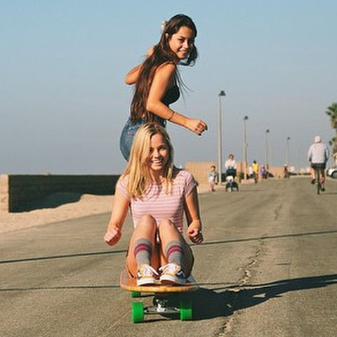 Hamboard team girl riders in action