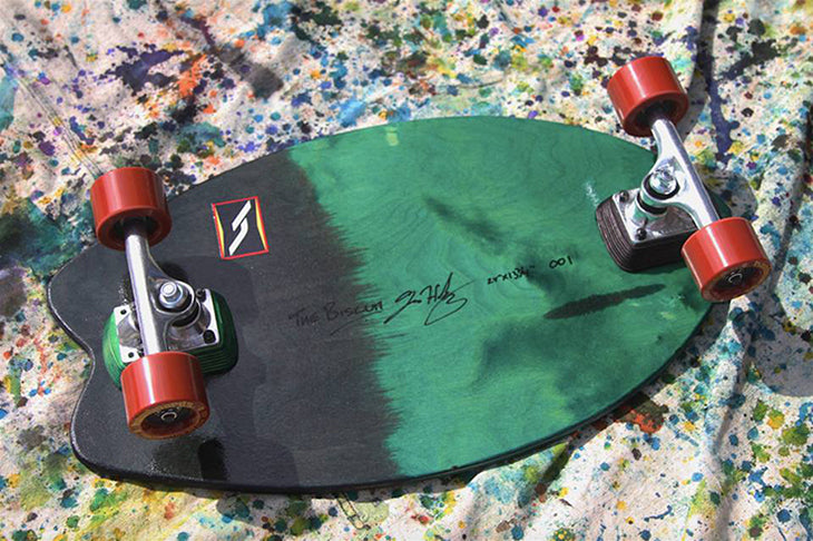 Limit edition longboard skateboard mini