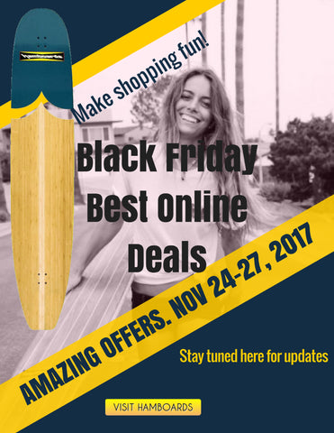 Black Friday Cyber Monday Offer Coupons on Longboard Skateboards