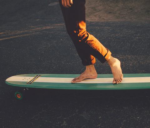 Balancing on longboard for starters