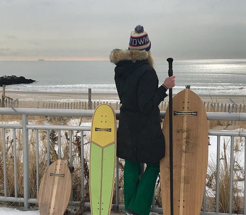 How to go surf skating in winter