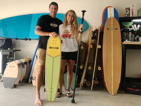 Donnie & Nico with the Hamboards Quiver