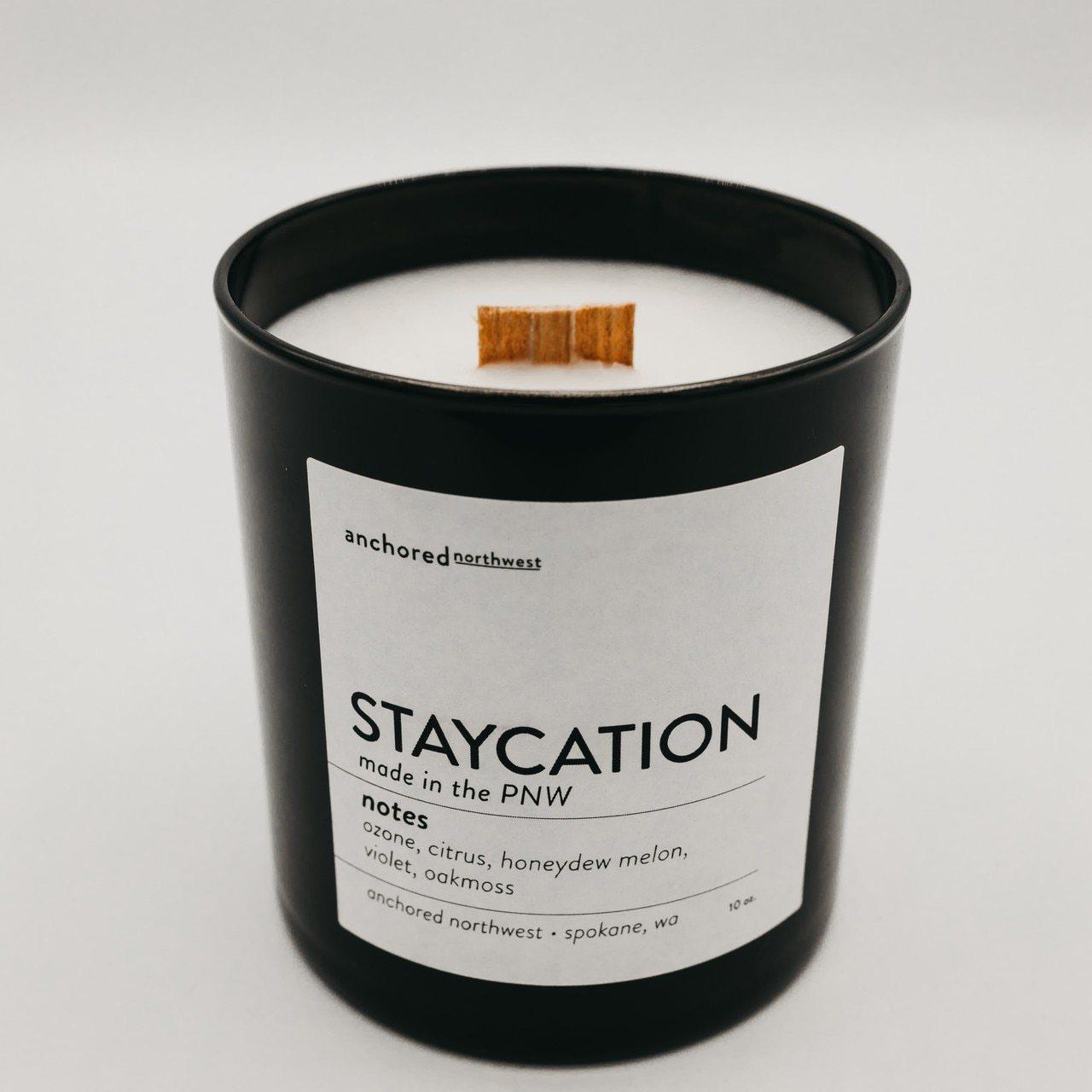 Black 10oz Tumbler w/ lid -  Staycation