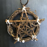 Green Witch Wooden Pentacle - Small