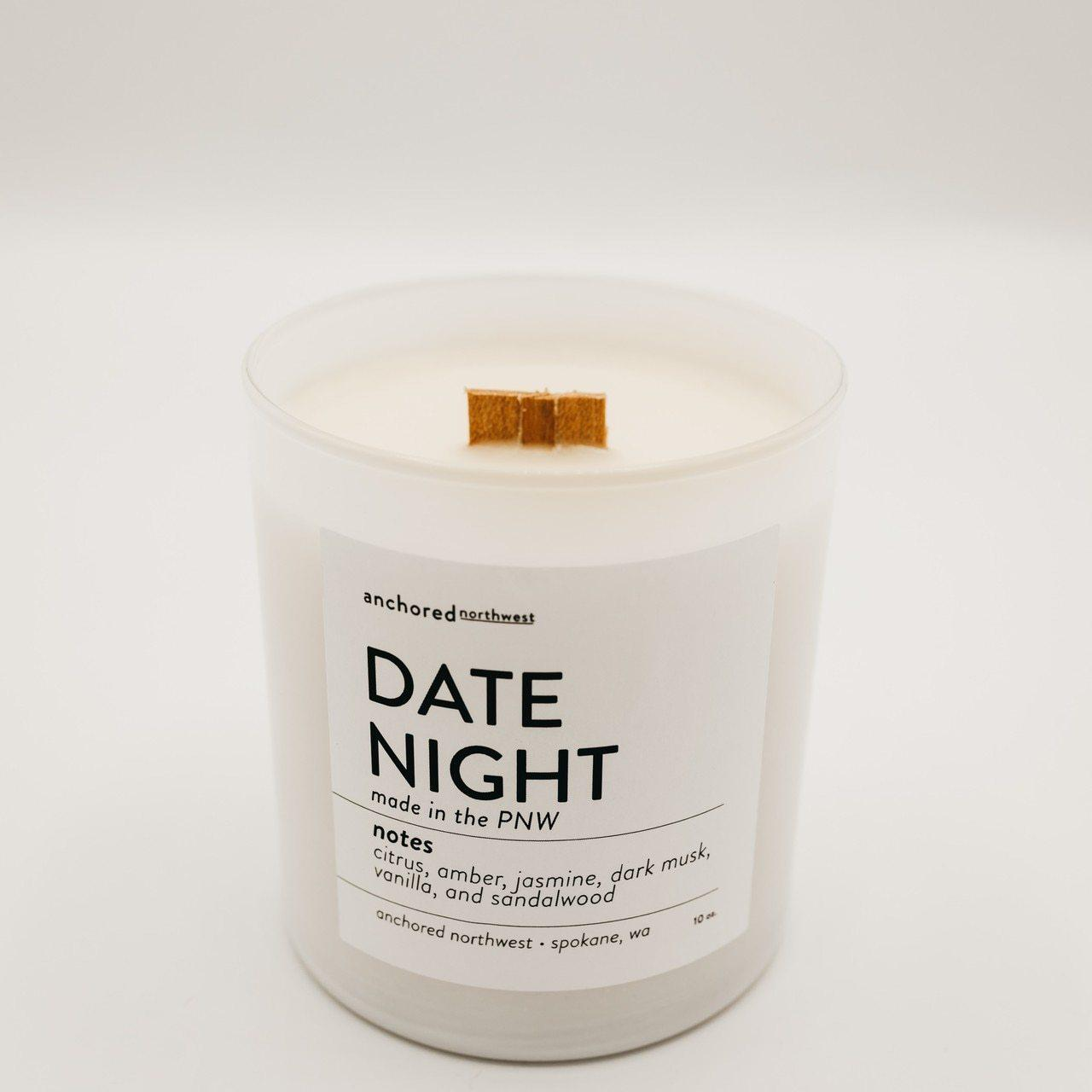 White 10oz Tumbler w/ lid - Date Night