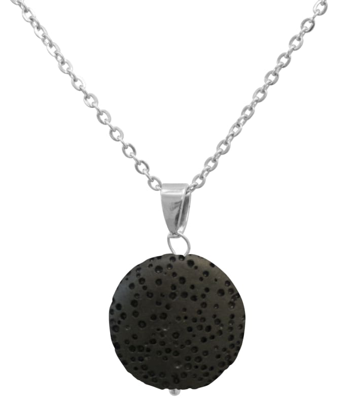 Black Lava Stone Essential Oil Necklace - Necklace