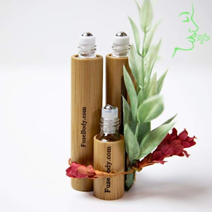 Breathe Clear - Wood Roll-On 5ml & 10ml - 10ml No Name Engraving + $6