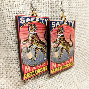 Vintage Tiger Earrings