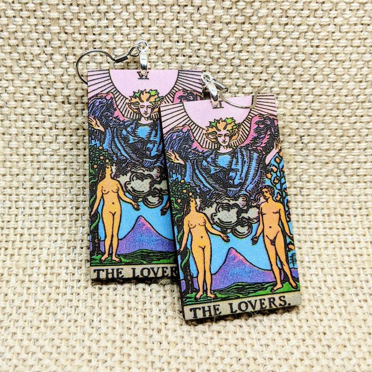 The Lovers - Tarot Card Earrings