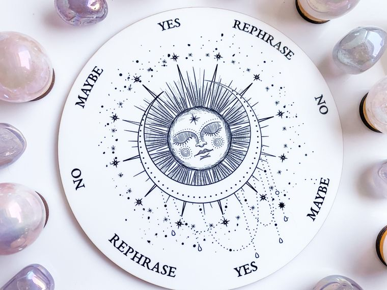 Sleeping Sun and Moon Pendulum Board - 6 inch