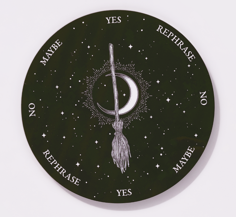Witches Broom and Moon Pendulum Board