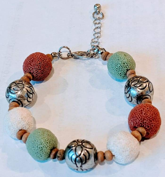 Multi Color Lava Stone Bracelet 3