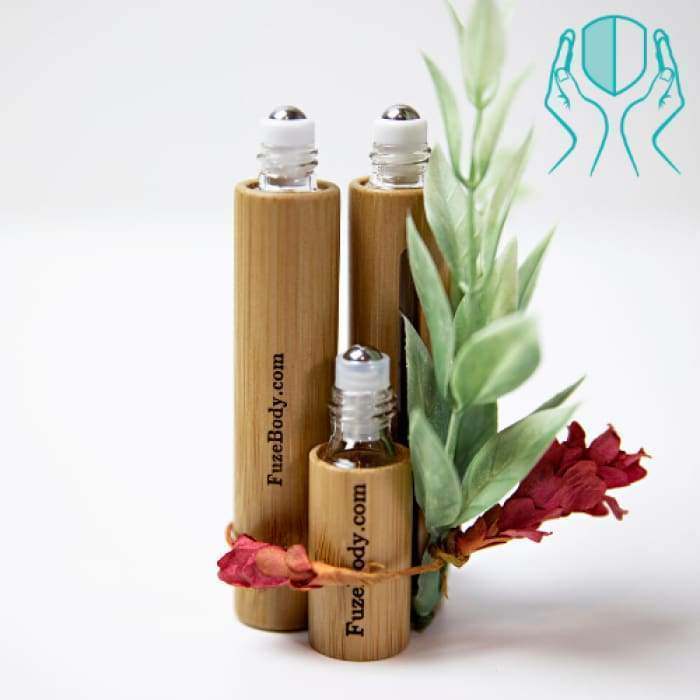 Protect: Sanitizing Blend 100% Pure Essential Oils and alcohol - Wood Roll-On 5ml - 10ml - 10ml No Name Engraving - $17.95