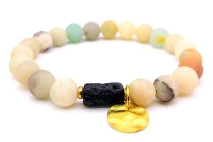 Sun Goddess Lava Stone Essential Oil Bracelet Light - Bracelet